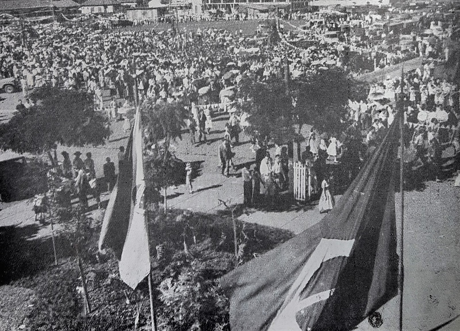 Vista da sacada do Grande Hotel Maringá - 1957