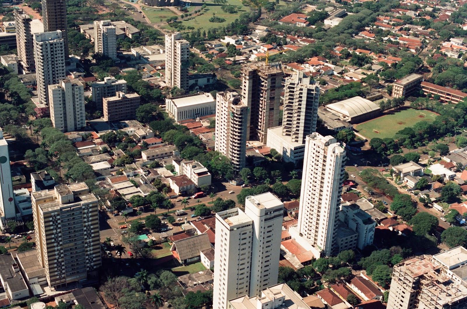 Vista aérea do Centro - 1989