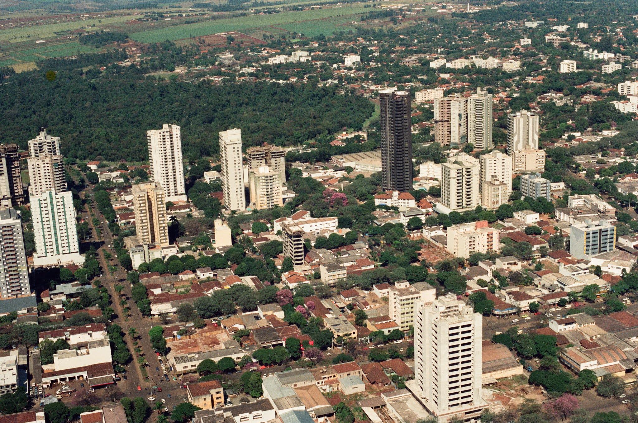 Vista aérea do Bosque II - 1989
