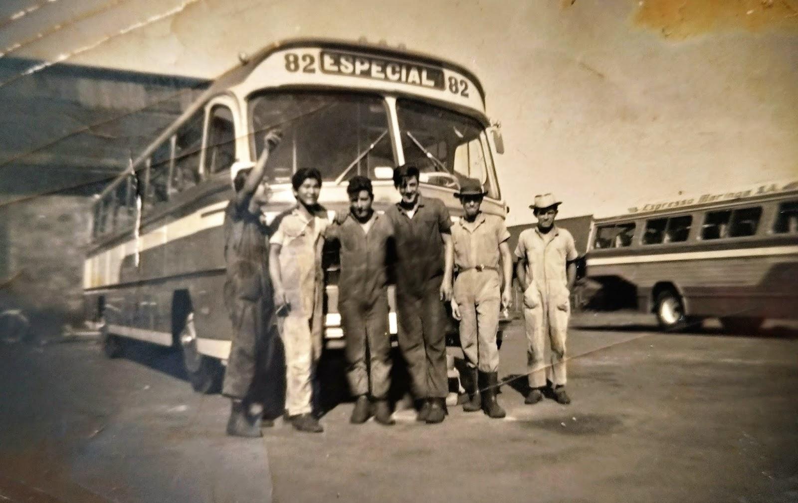 Garagem da Expresso Maringá - Final dos anos 1950