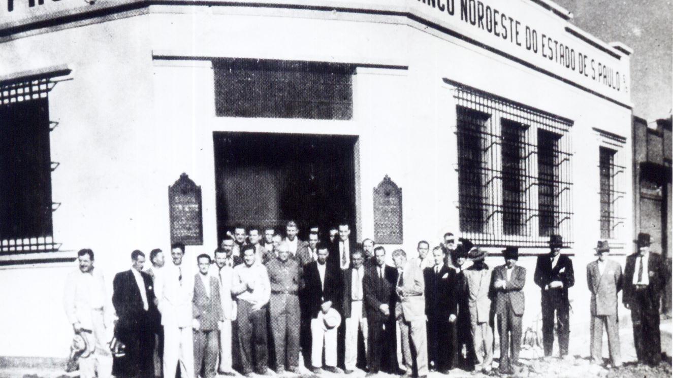 Inauguração do Banco Noroeste do Estado de S. Paulo - 1949
