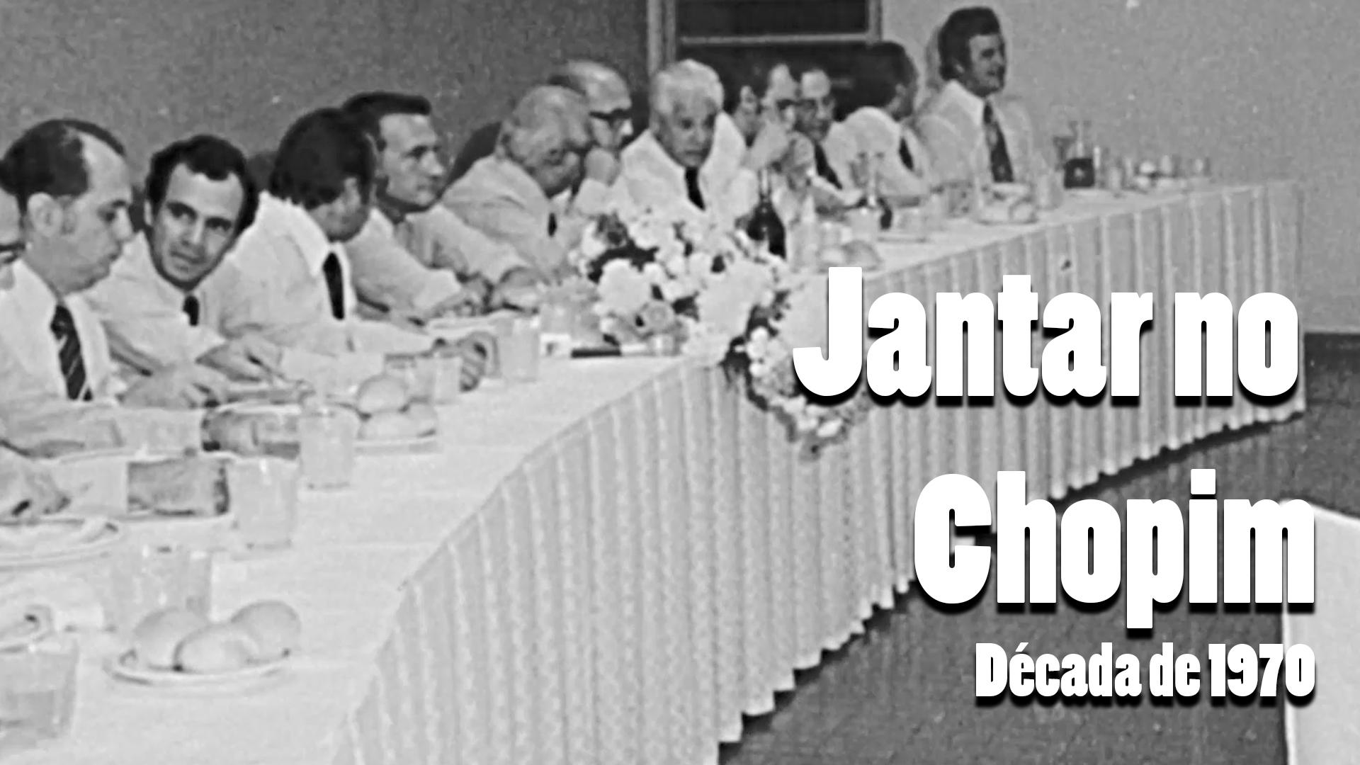 RARIDADE - Jantar na Churrascaria Chopim nos anos 1970