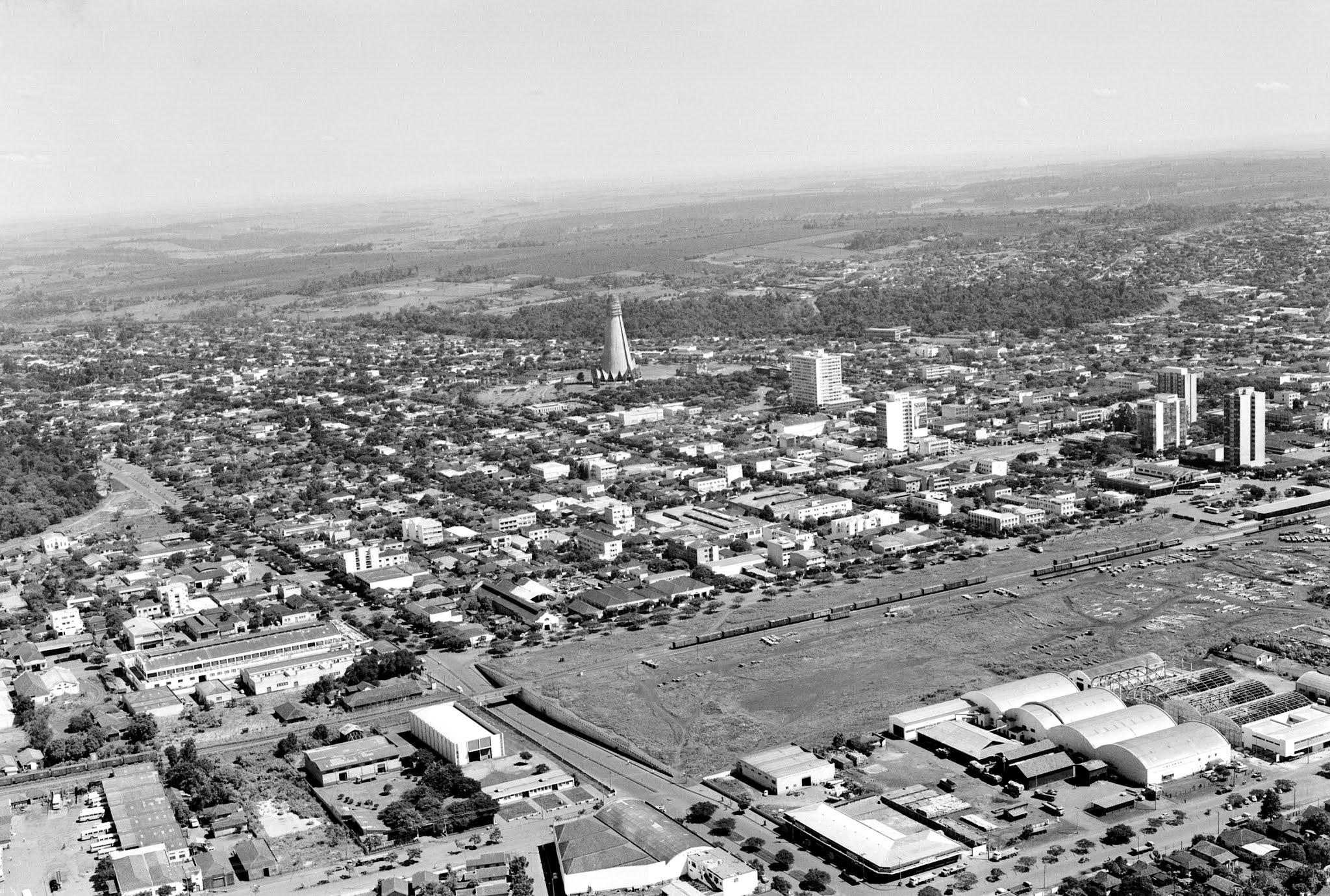 Vista aérea de Maringá - Início dos anos 1970