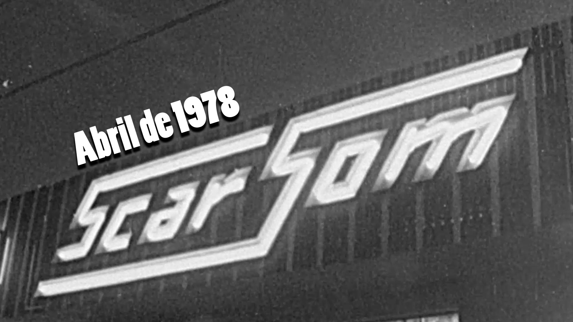 RARIDADE - Inauguração da Scar Som em 1978