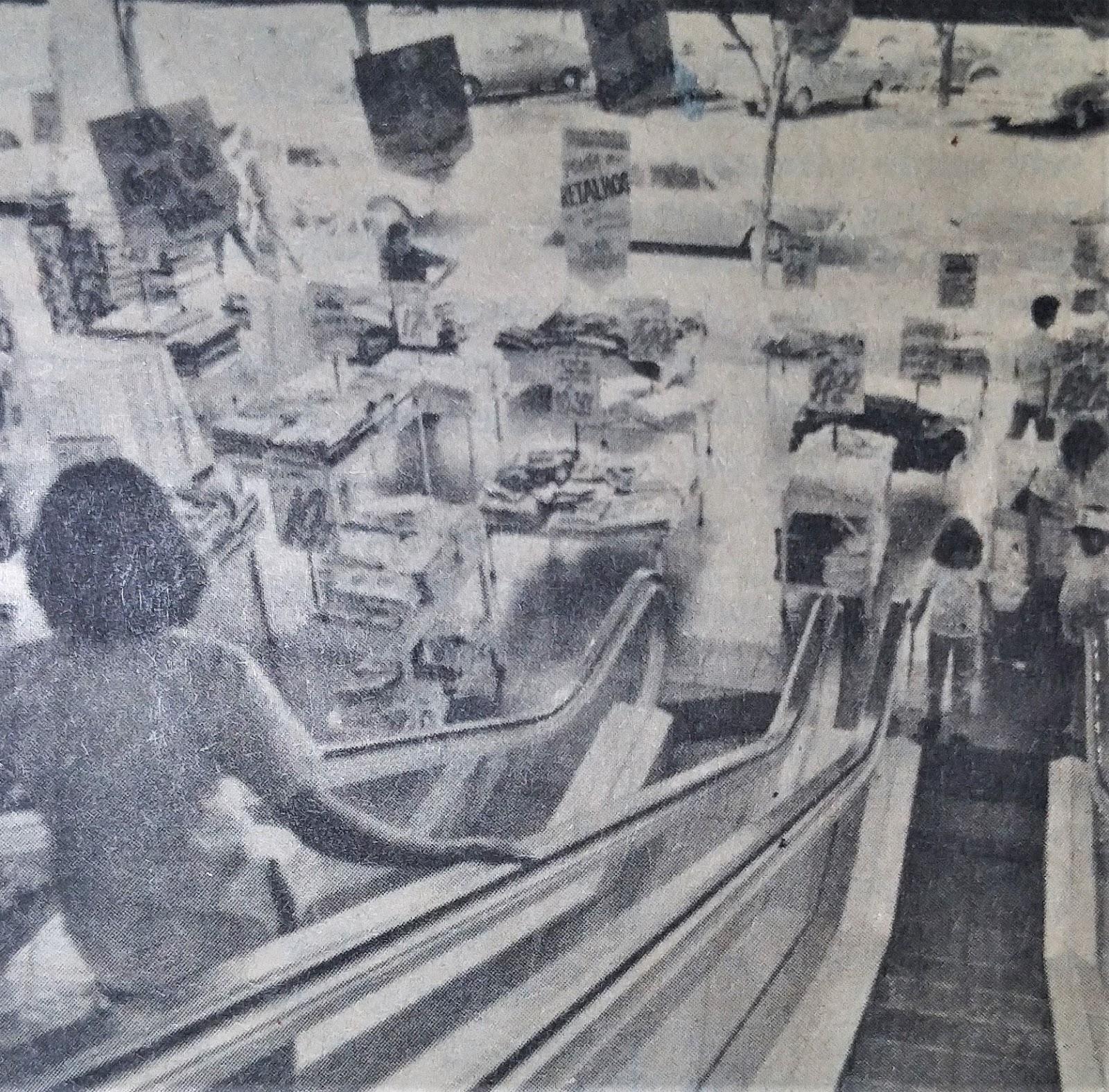 Escada rolante da Casas Pernambucanas - 1979
