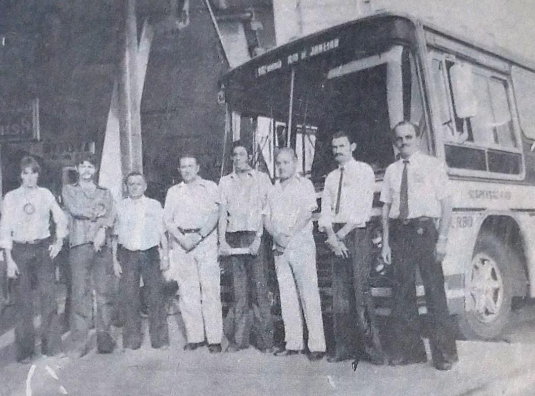 Primeiro ônibus da Viação Garcia ao Rio - 1979