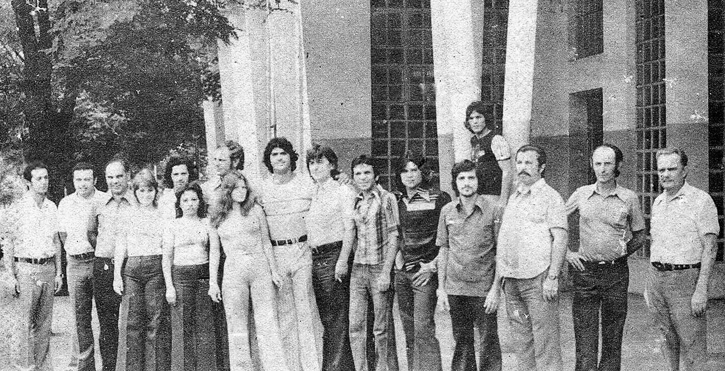 Funcionário da Rádio Cultura - Anos 1970