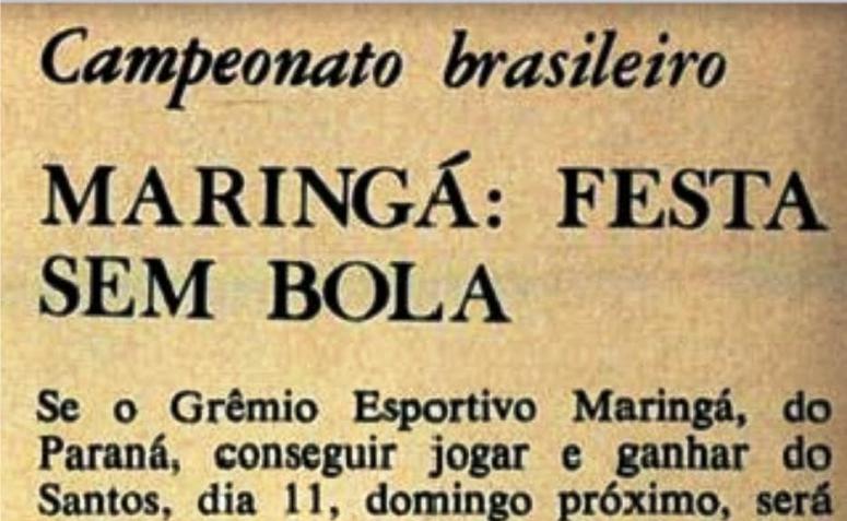 Grêmio Esportivo Maringá. Campeão nacional?