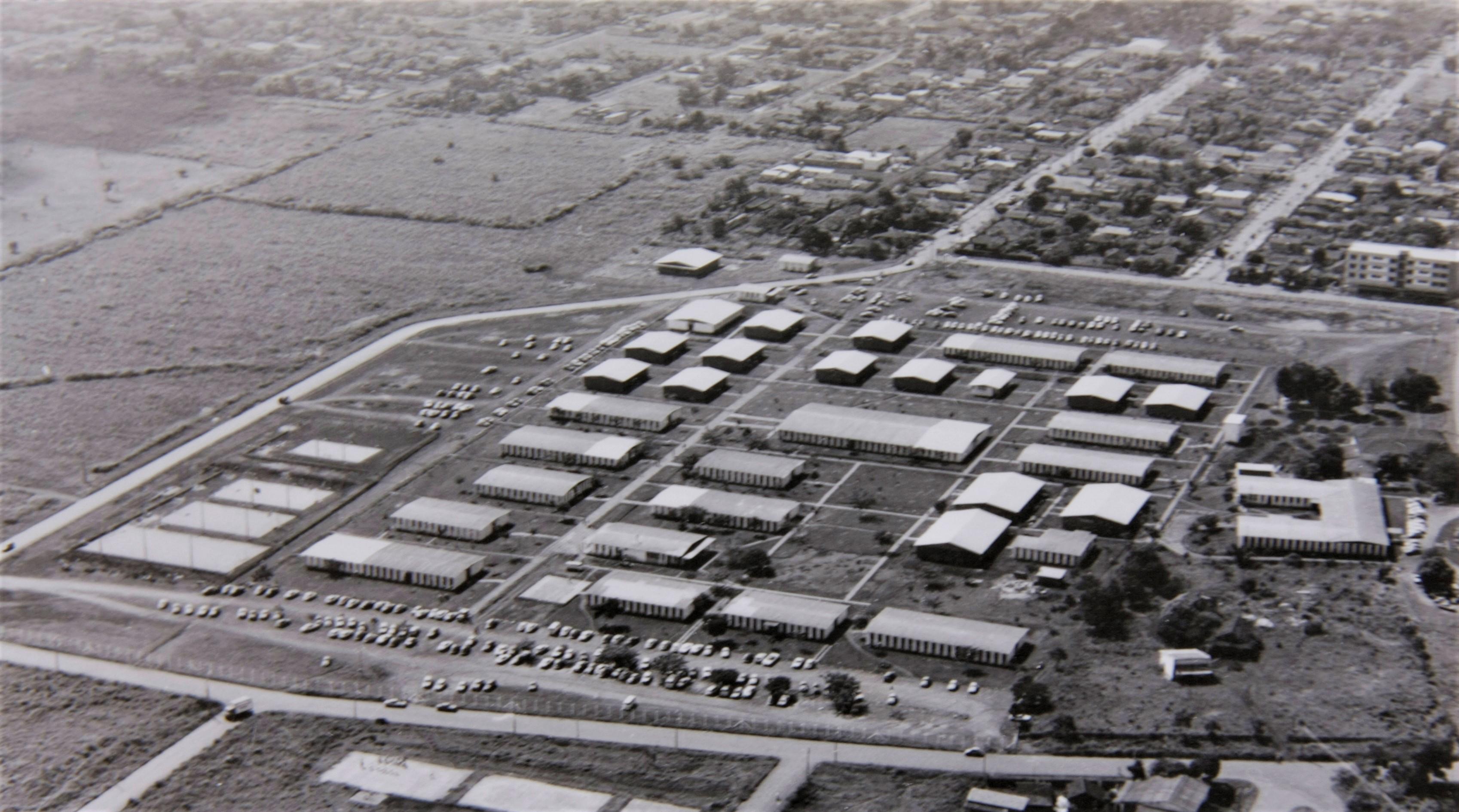 Vista aérea da UEM - Anos 1970