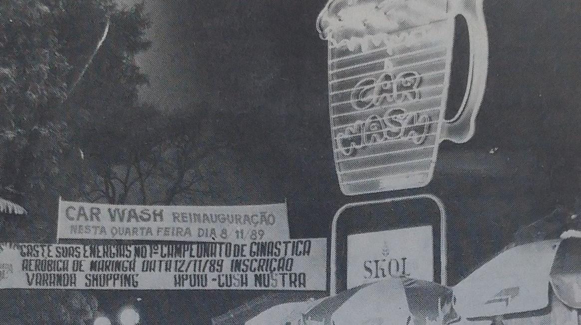Reinauguração do Car-Wash - Novembro de 1989