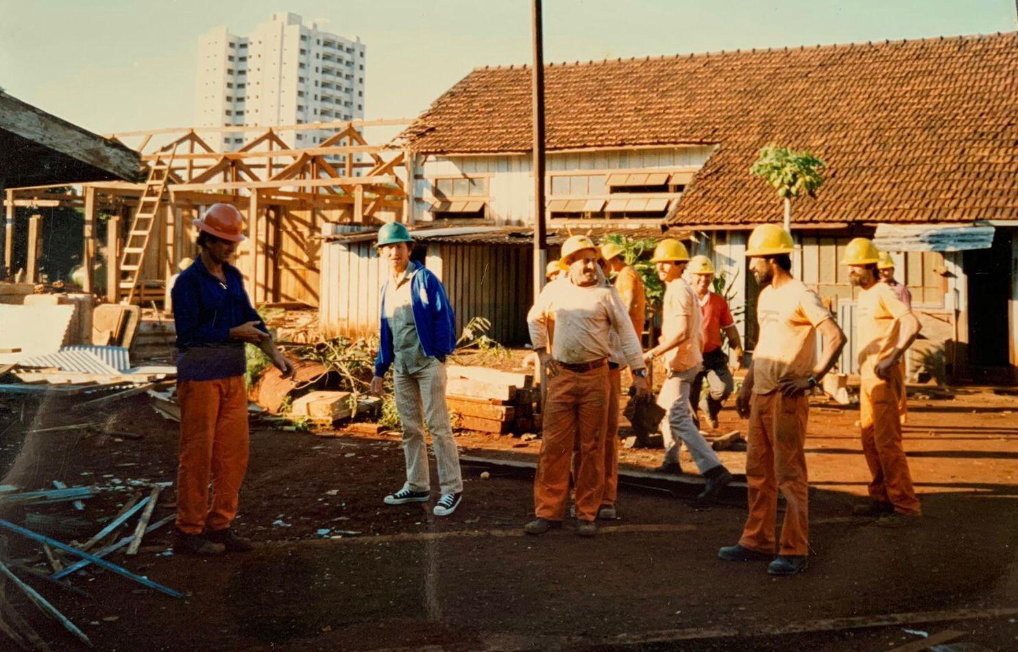 Desmontagem do pátio de manobras ferroviárias - 1991