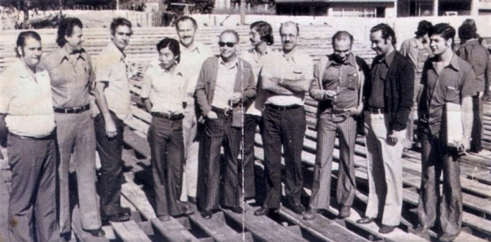 Visita nas obras do Viaduto da Tuiuti-Colombo - 1975
