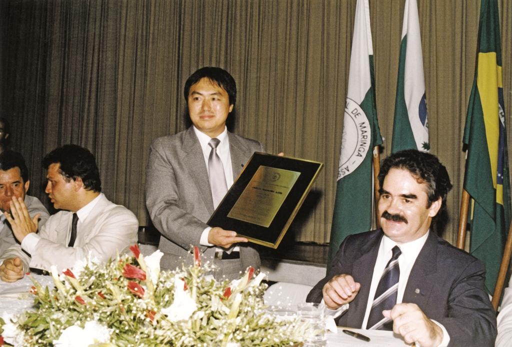 Posse nova Diretoria da ACIM - 1990