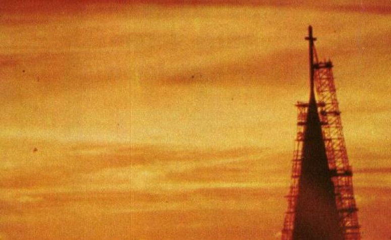 Catedral sob o espectro do pôr do Sol - Década de 1970
