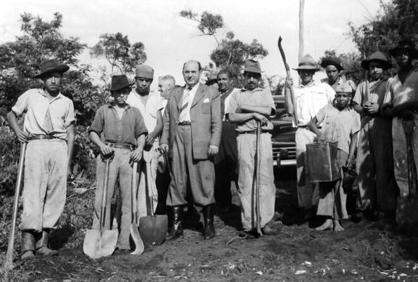 Moysés Lupion em Maringá - 1949