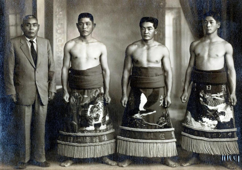 Praticantes de sumô - Década de 1950