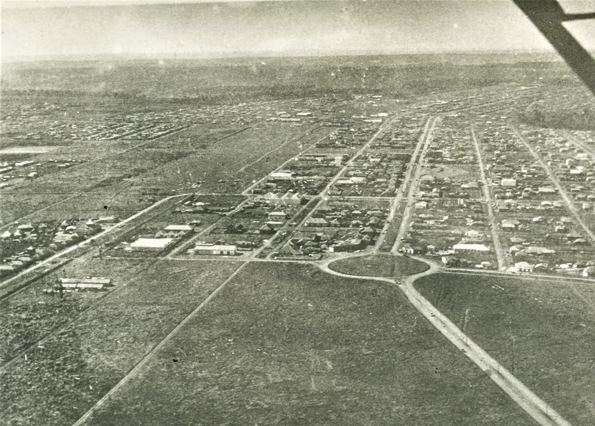 Vista aérea - Final dos anos 1940