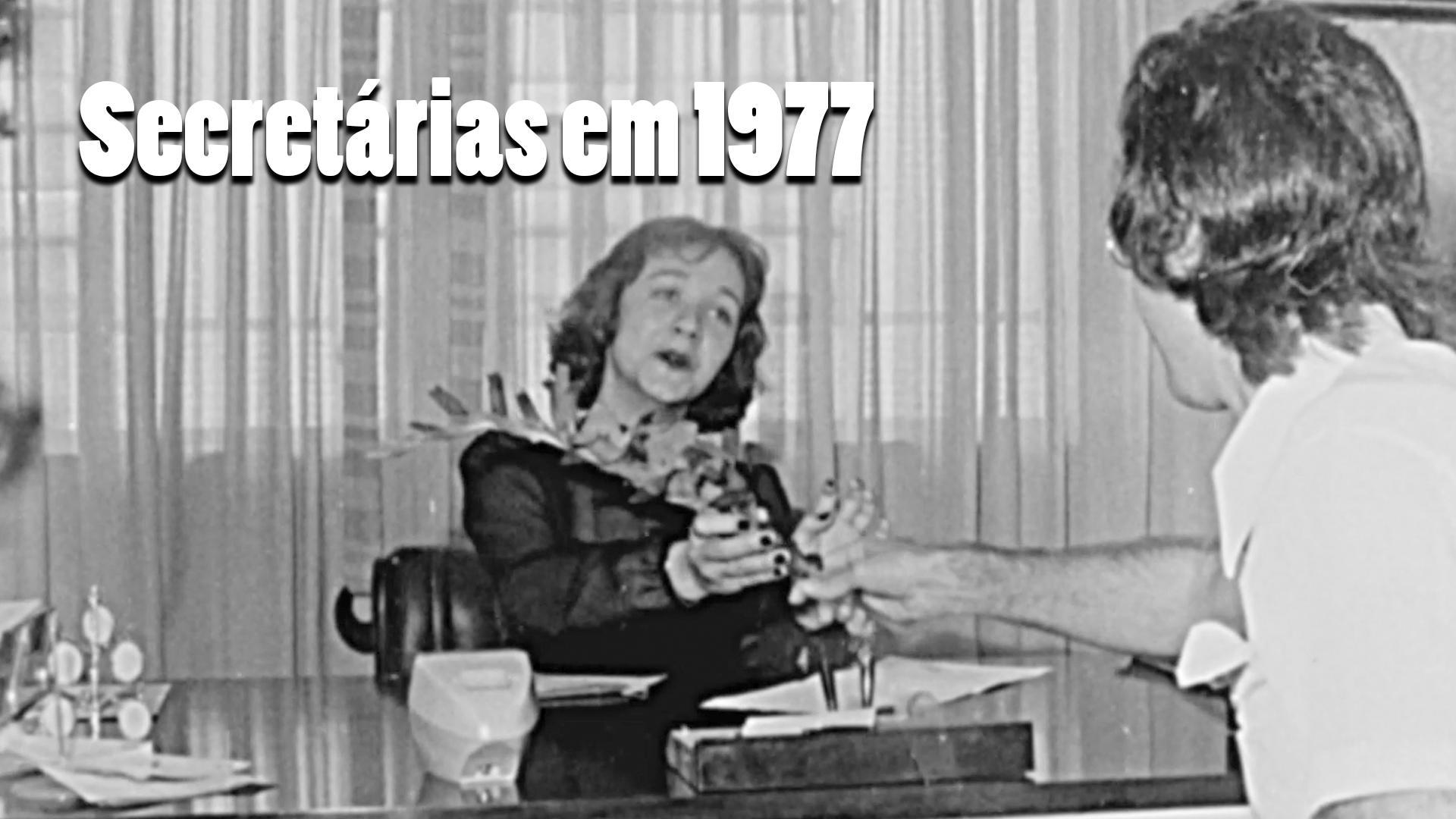 RARIDADE - Recepcionistas e secretárias em 1977