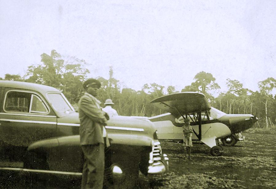 Personalidades no Campo de Pouso - Década de 1940