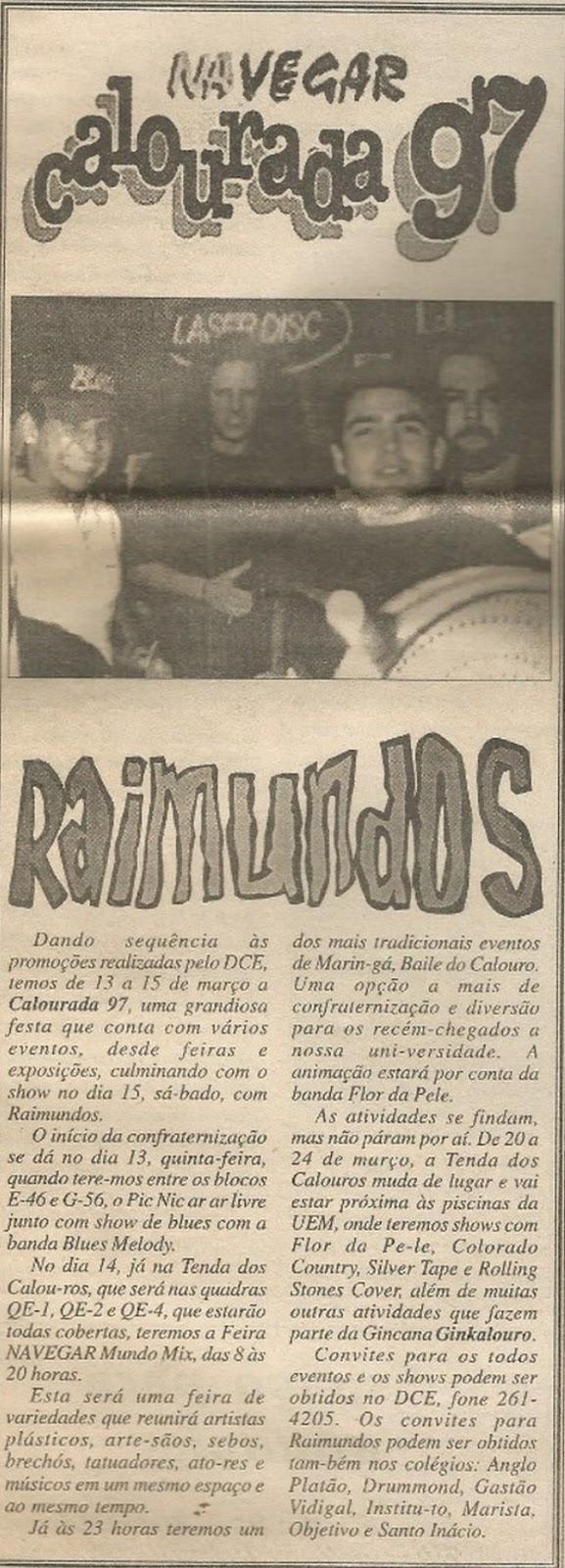 Show com Raimundos - 1997