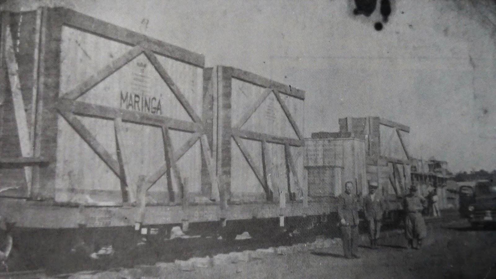 Geradores da Usina Diesel Elétrica - 1953 (outro ângulo)