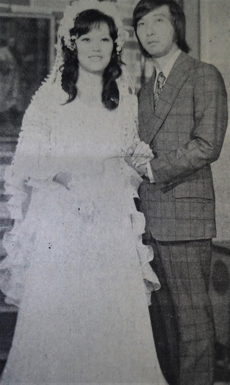 Os noivos Dirce e Mário Hossokawa - 1975