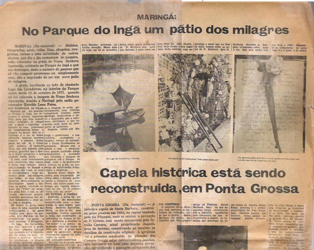 Parque do Ingá: Um Milagre