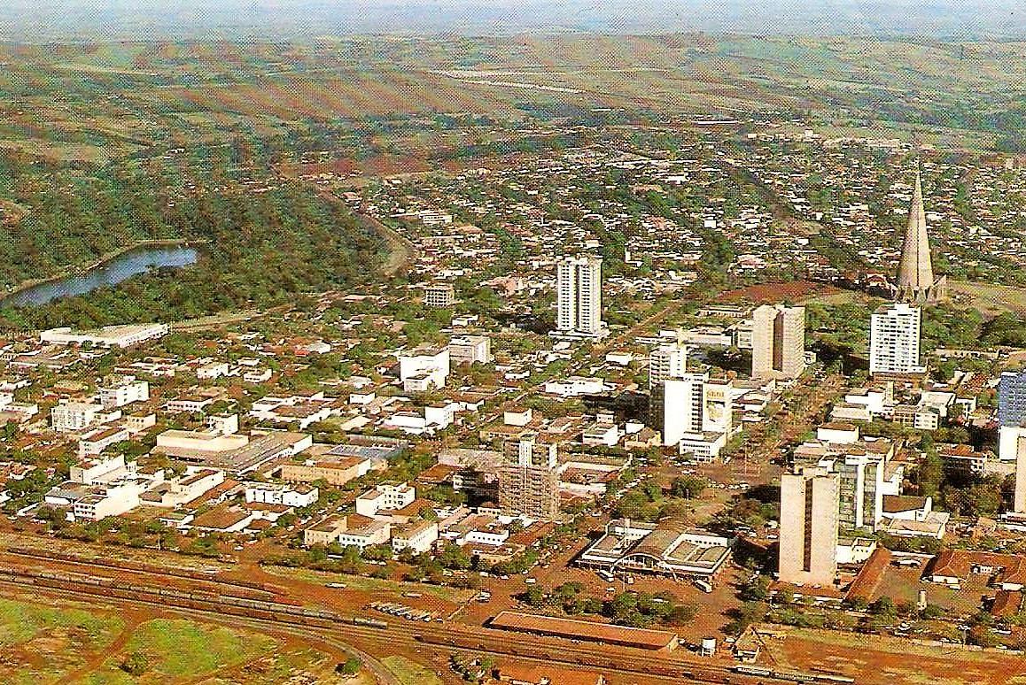 Vista aérea - Década de 1980