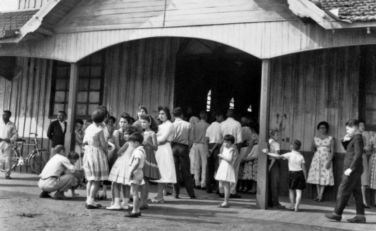 Entrada da Catedral (madeira) - Década de 1950