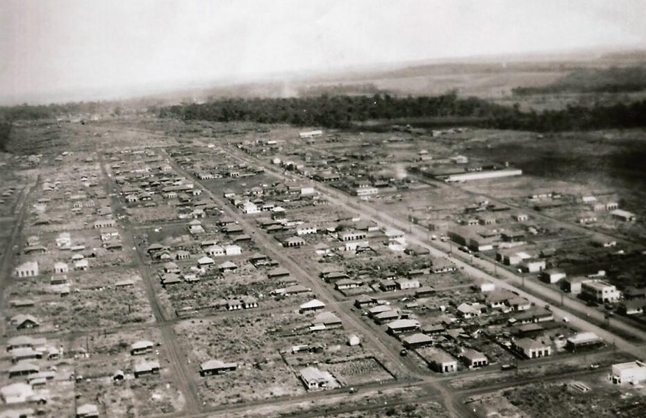 Vista aérea do centro - Anos 1940
